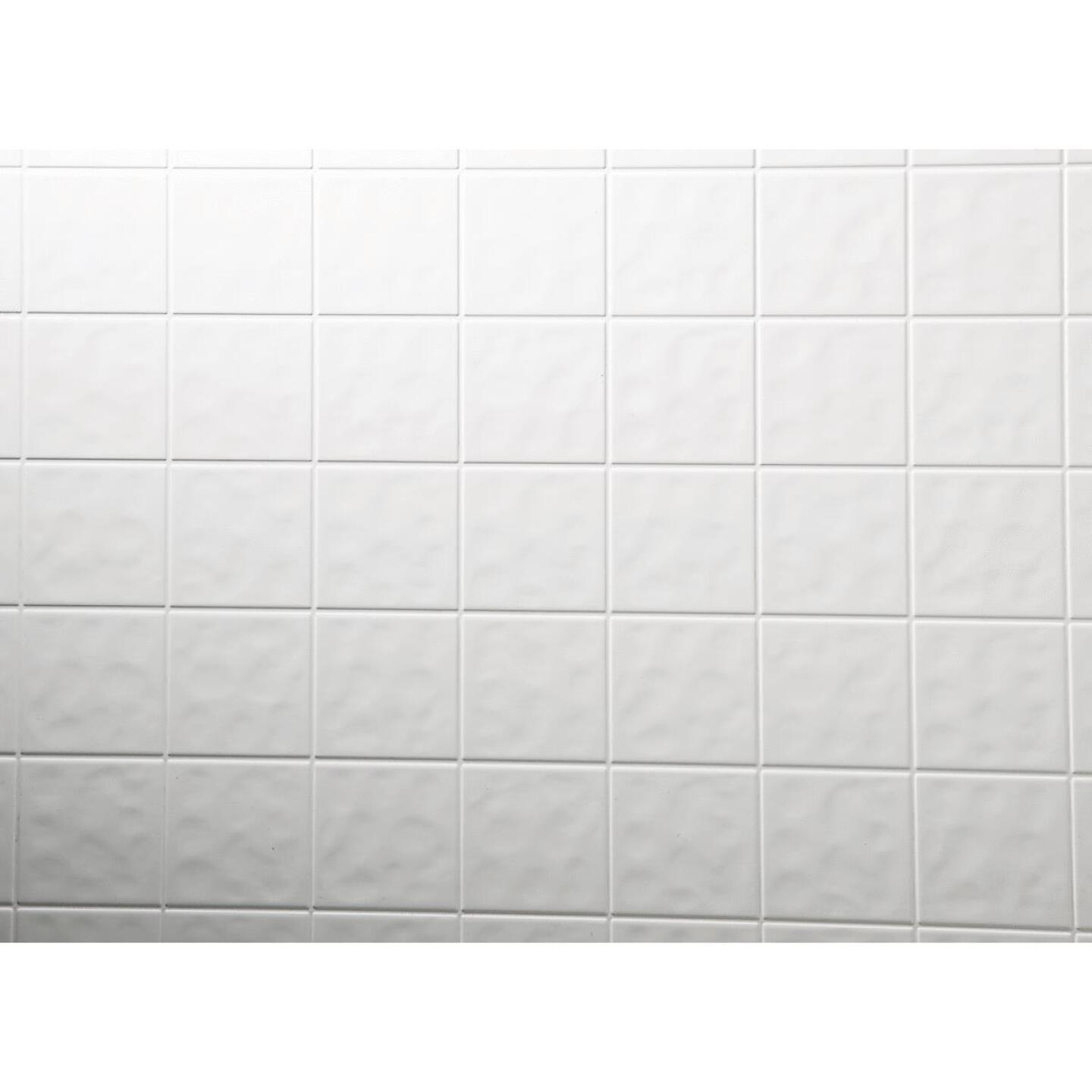 DPI AquaTile 4 Ft. x 8 Ft. x 1/8 In. White Tileboard Wall Tile Image 1
