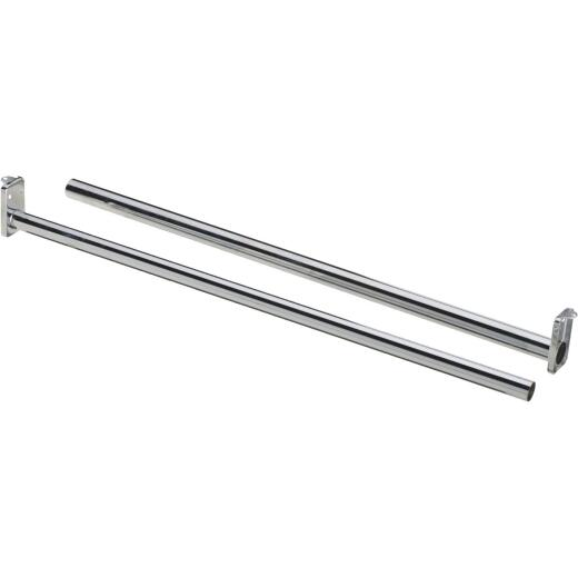 National 30 In. To 48 In. Adjustable Closet Rod, Chrome