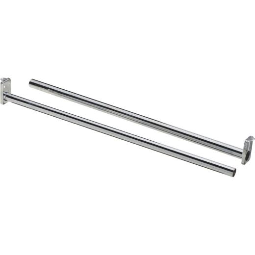 National 48 In. To 72 In. Adjustable Closet Rod, Chrome