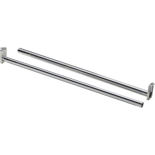 National 72 In. To 120 In. Adjustable Closet Rod, Chrome