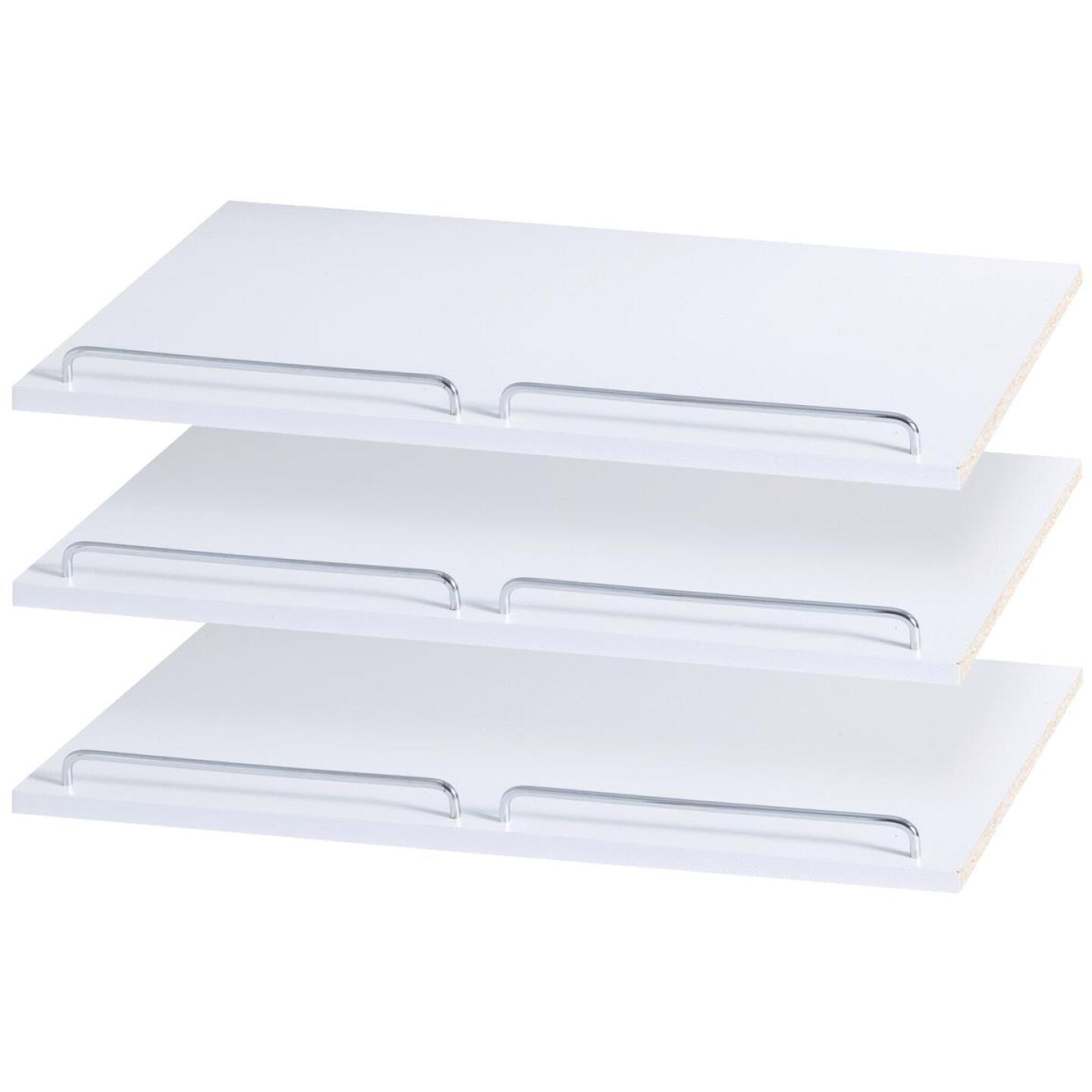 Easy Track 2 Ft. W. x 14 In. D. Laminated Shoe Shelf, White (3-Pack) Image 2