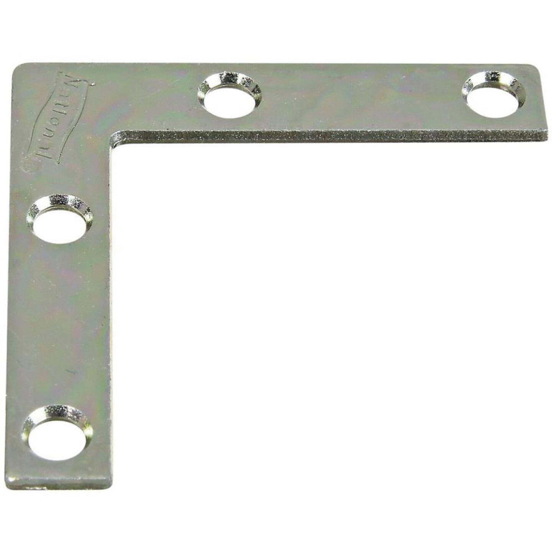 National Catalog 117 2 In. x 3/8 In. Zinc Flat Corner Iron Image 1