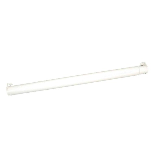 John Sterling Closet-Pro 72 In. to 120 In. x 1-1/4 In. Extra Heavy-Duty Adjustable Closet Rod, White