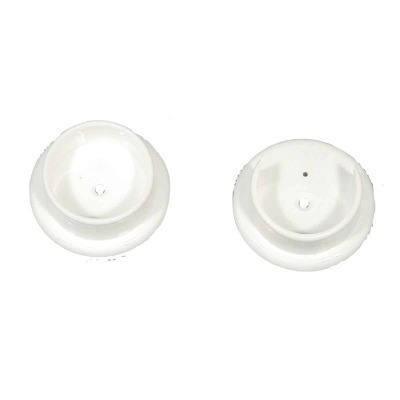 John Sterling Closet-Pro 1-1/4 In. Plastic Closet Rod Socket, White (2-Pack)