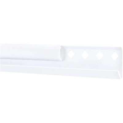 FreedomRail 24 In. White Horizontal Hanging Rail with Cover