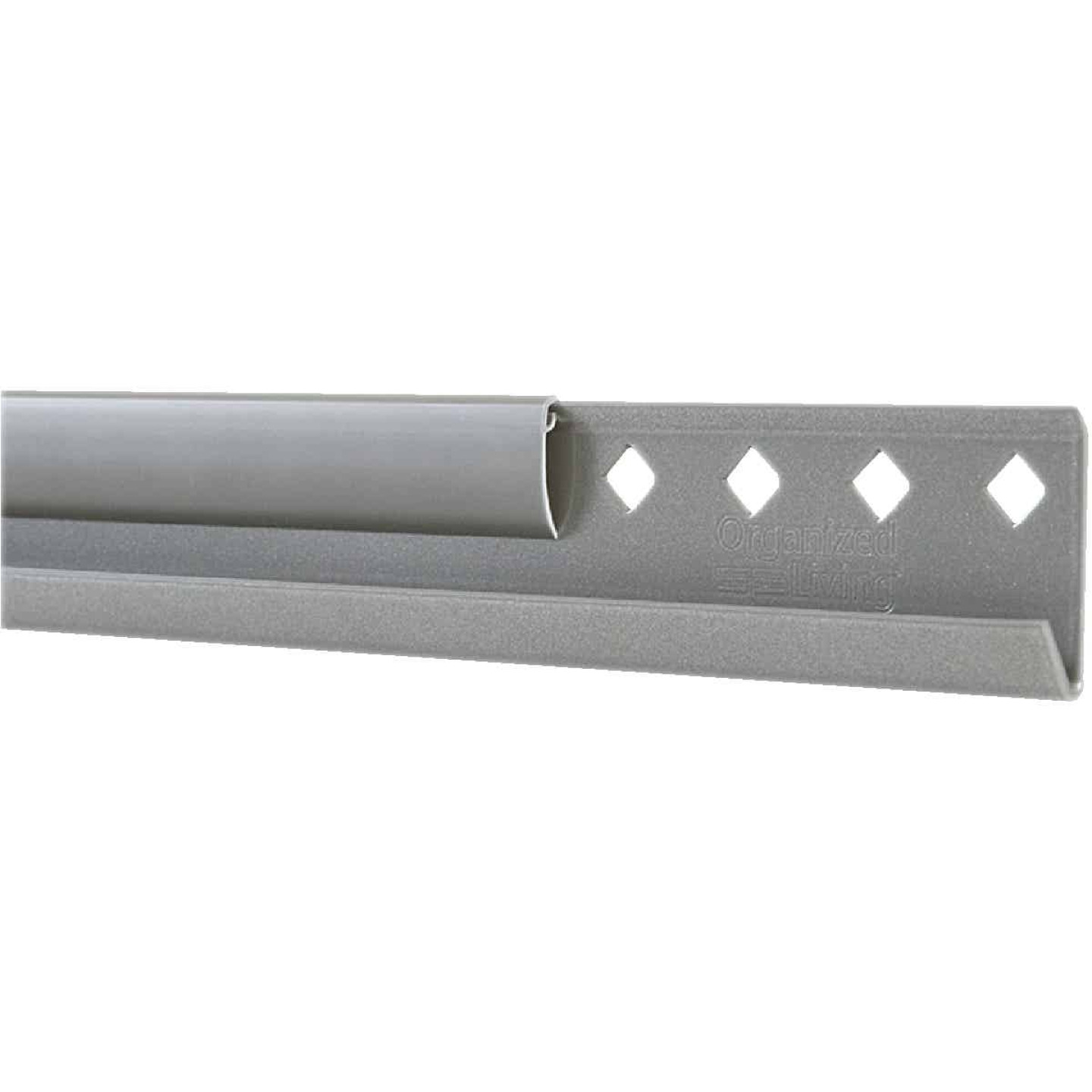 FreedomRail 42 In. Nickel Horizontal Hanging Rail with Cover Image 1