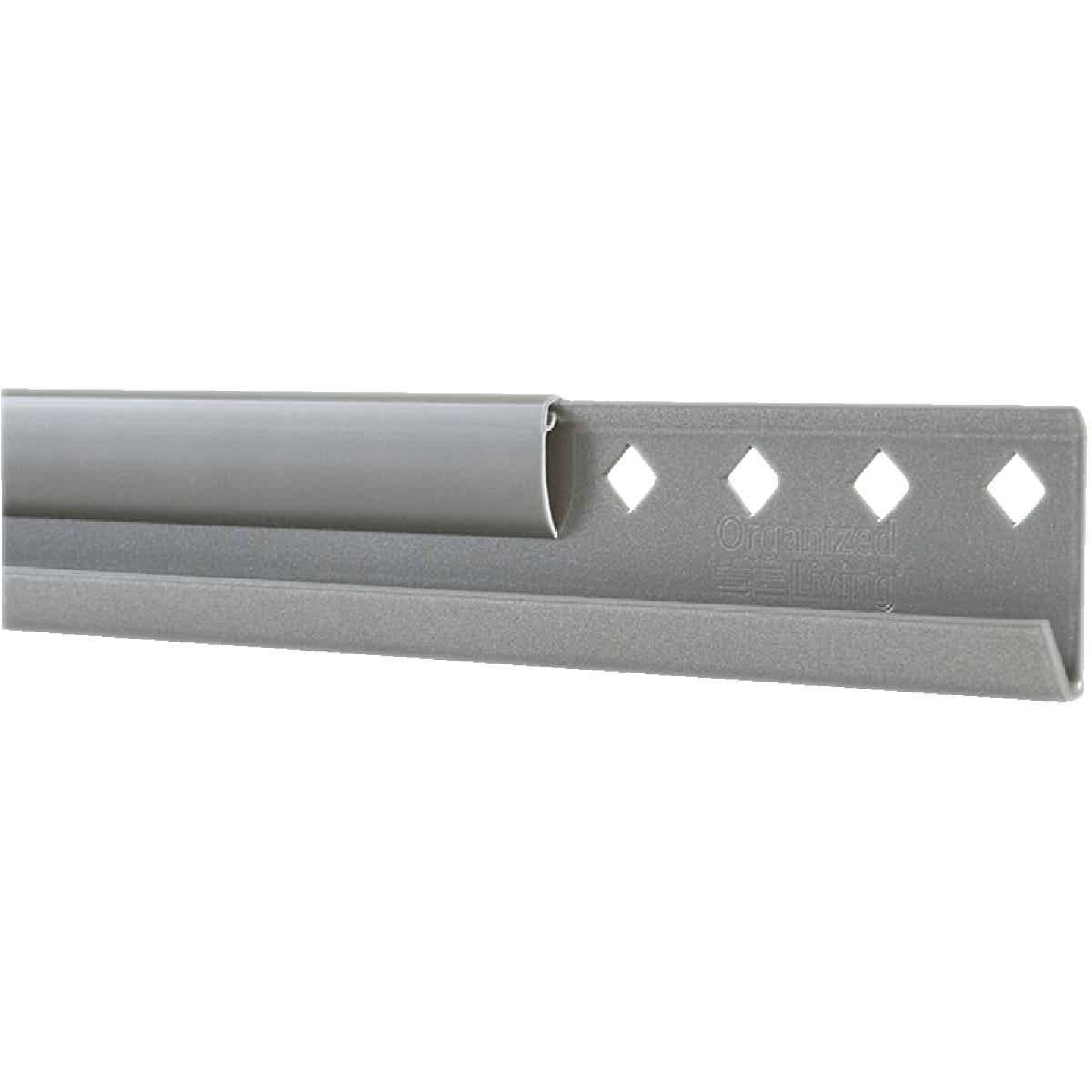FreedomRail 78 In. Nickel Horizontal Hanging Rail with Cover Image 1