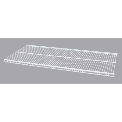 Organized Living FreedomRail 3 Ft. W. x 12 in. D Profile Ventilated Closet Shelf, White