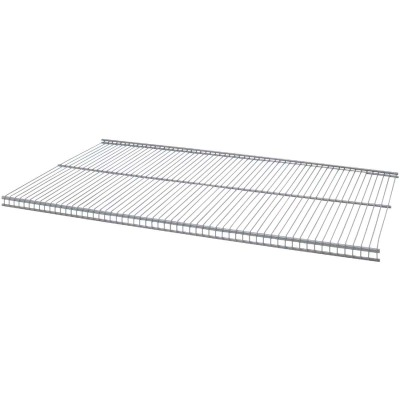 Organized Living FreedomRail 2 Ft. W. x 12 in. D Profile Ventilated Closet Shelf, Nickel