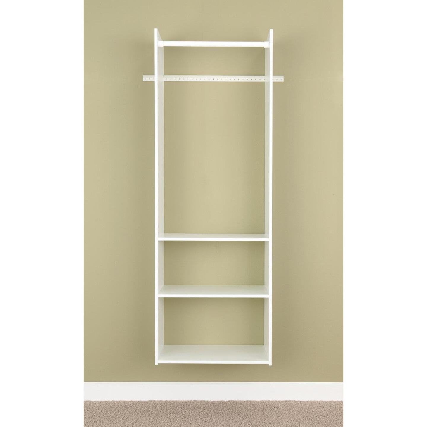 Easy Track Hanging Tower Wall-Mounted Shelving Unit, White Image 2