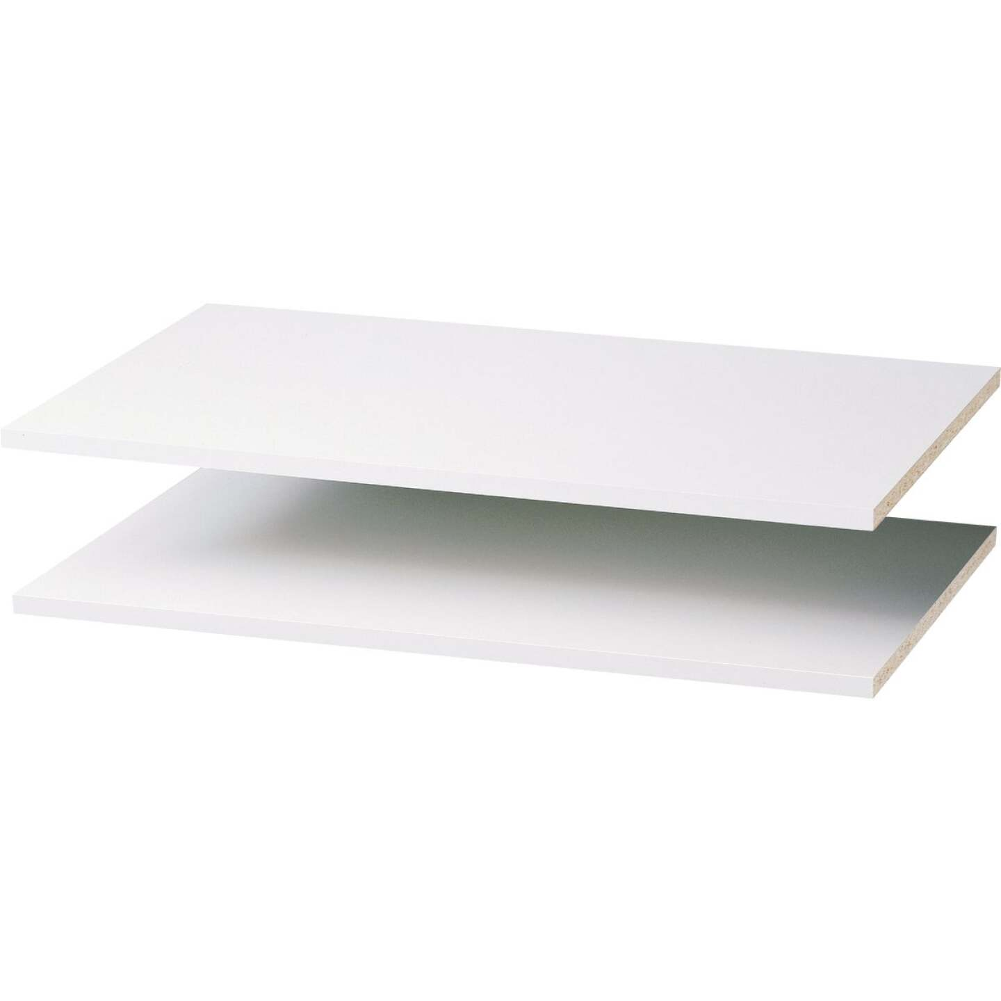 Easy Track 3 Ft. W. x 14 In. D. Laminated Closet Shelf, White (2-Pack) Image 1