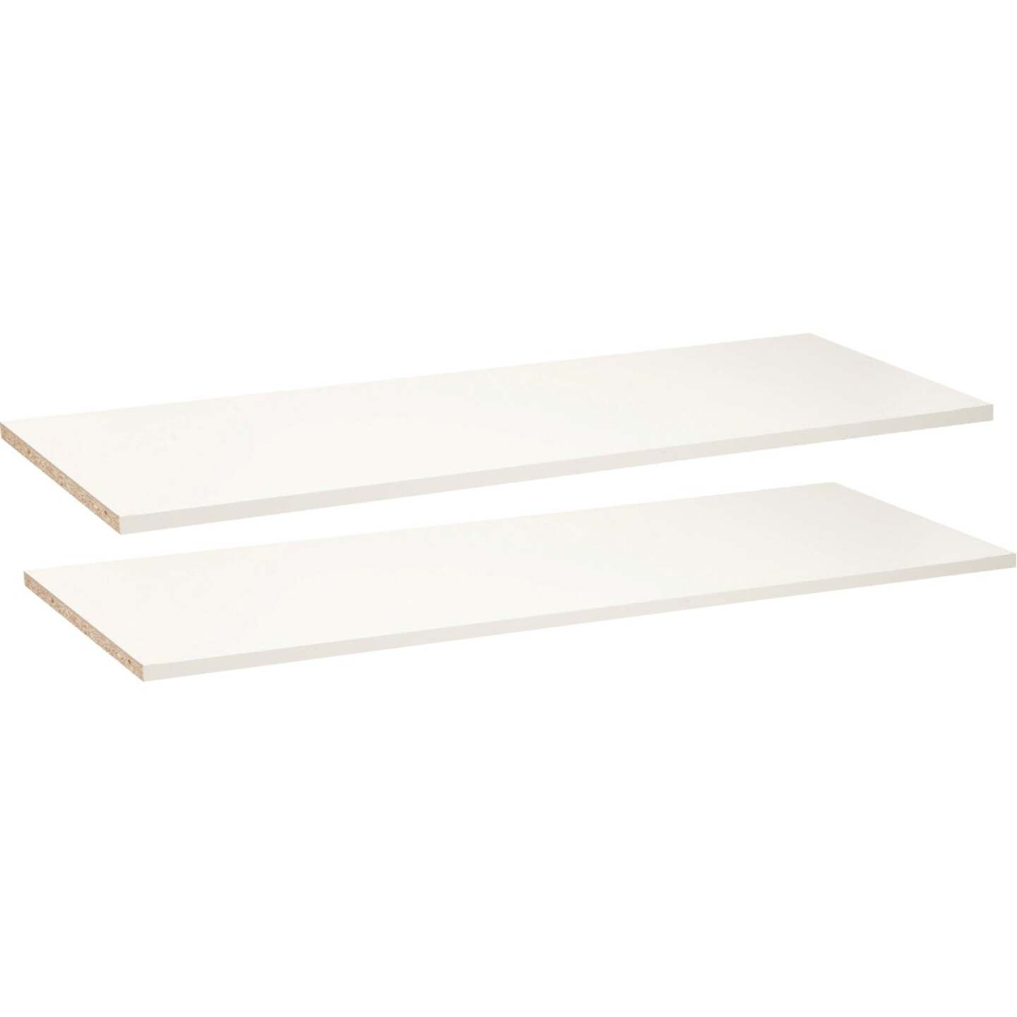 Easy Track 3 Ft. W. x 14 In. D. Laminated Closet Shelf, White (2-Pack) Image 3