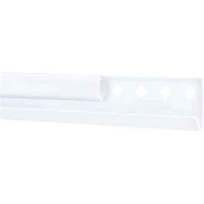 FreedomRail 78 In. White Horizontal Hanging Rail with Cover