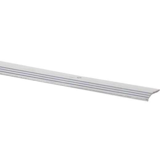 Do it Satin Silver Fluted 1 In. x 3 Ft. Aluminum Carpet Trim Bar