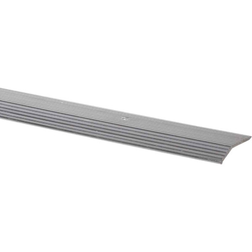 Do it Satin Silver Fluted 1-3/8 In. x 6 Ft. Aluminum Carpet Trim Bar, Wide