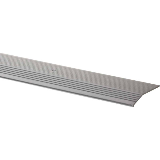Do it Satin Silver Fluted 2 In. x 6 Ft. Aluminum Carpet Trim Bar, Extra Wide