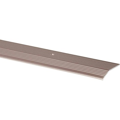 M-D Pewter Fluted 1-3/8 In. x 6 Ft. Aluminum Carpet Trim Bar, Wide