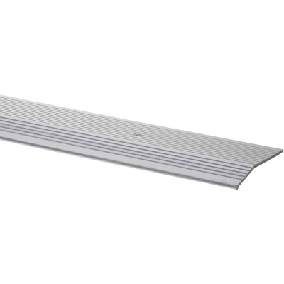 M-D Satin Silver Fluted 2 In. x 6 Ft. Aluminum Carpet Trim Bar, Extra Wide