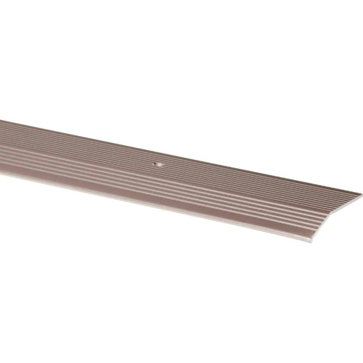 M-D Pewter Fluted 2 In. x 3 Ft. Aluminum Carpet Trim Bar, Extra Wide