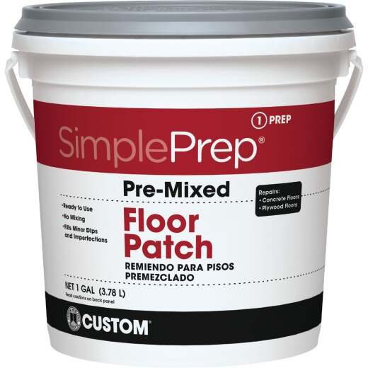 SimplePrep Pre-Mixed Floor Patch, Gray, 1 Gal.