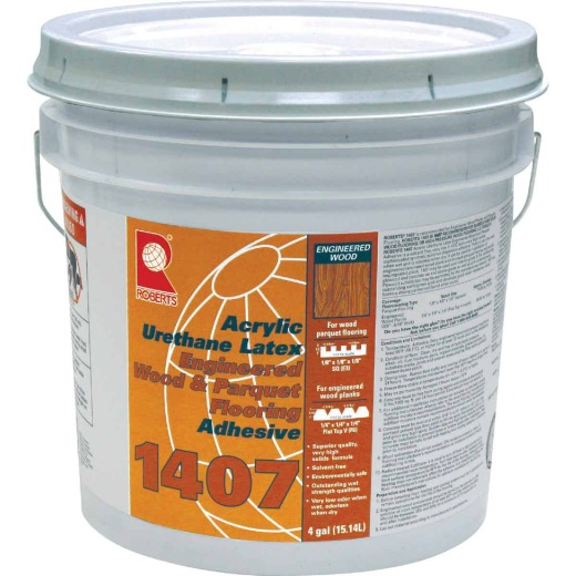 Roberts Acrylic Latex Wood Floor Adhesive, 4 Gal.