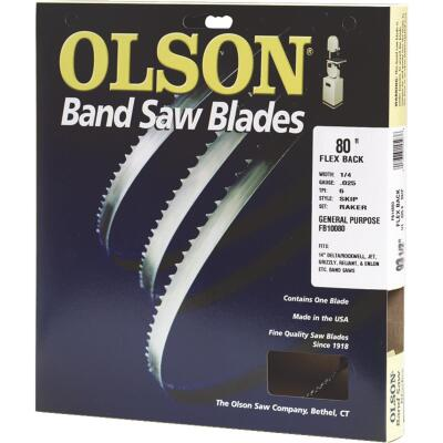 Olson 80 In. x 3/16 In. 10 TPI Regular Flex Back Band Saw Blade