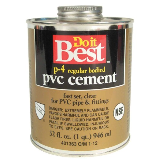 Do it Best 32 Oz. Regular Bodied Clear PVC Cement