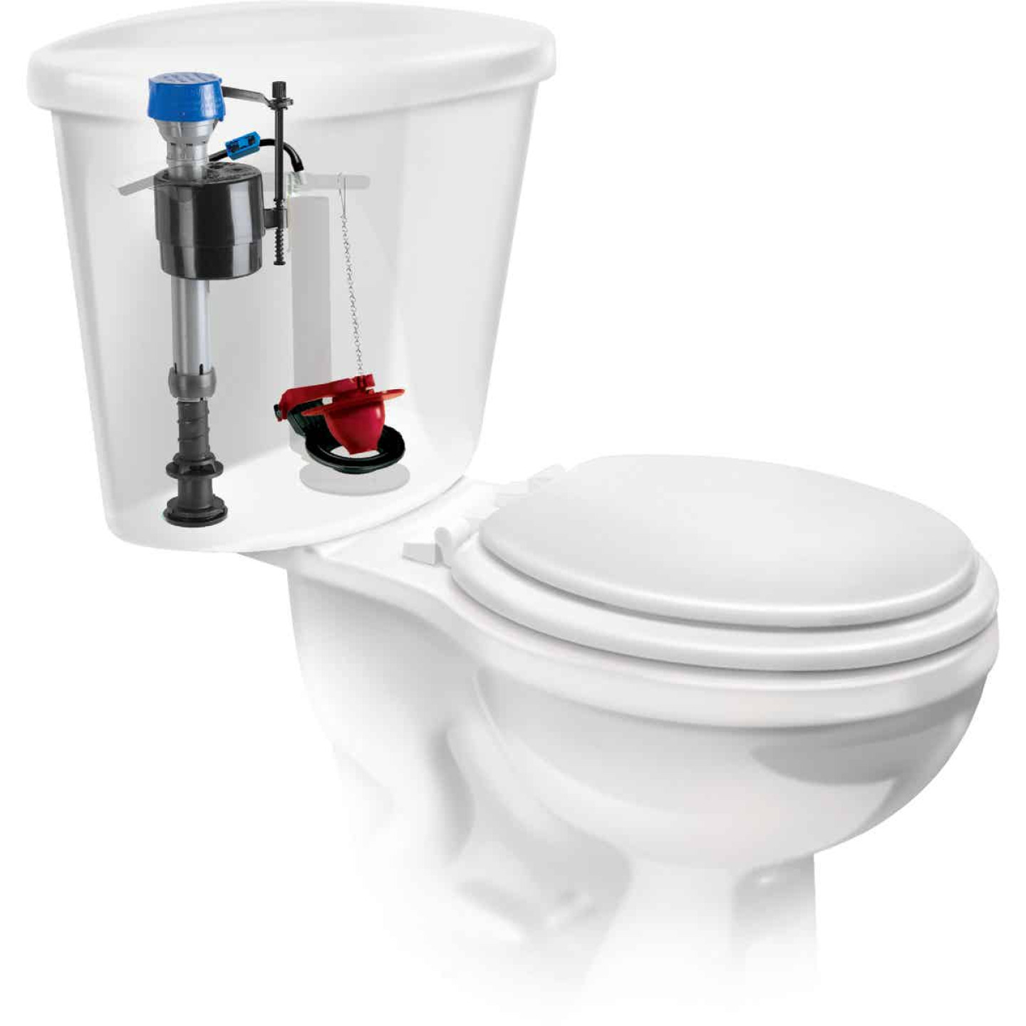 Fluidmaster PerforMAX Fill Valve & 2 In. Flush Valve Toilet Repair Kit Image 5