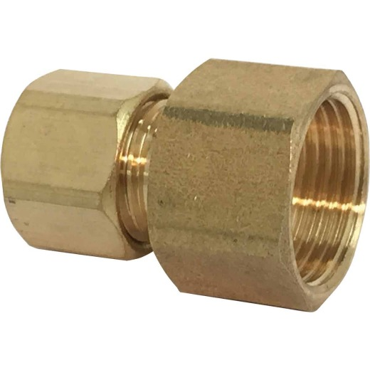 Sioux Chief 1/4 In. Compression X 1/4 In. Female Flare Adapter with Gasket For Ice Maker Connection