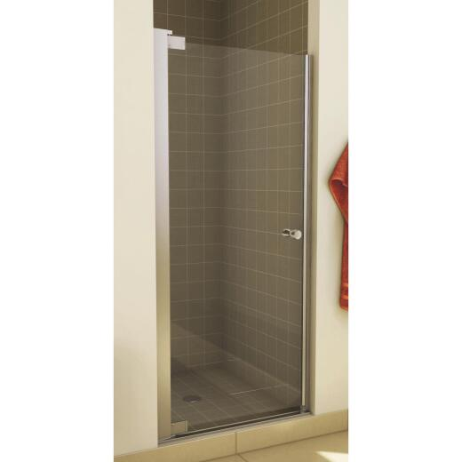 Maax Madono 33.5 In. W. X 67 In. H. Chrome Clear Glass Pivot Shower Door