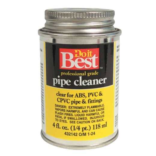 Do it Best 4 Oz. All-Purpose Pipe Clear PVC Cleaner