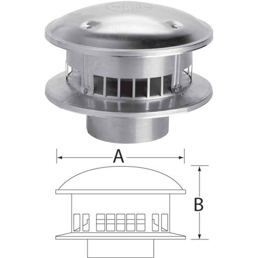 SELKIRK RV 6 In. x 12 In. x 6-1/4 In. Gas Vent Cap