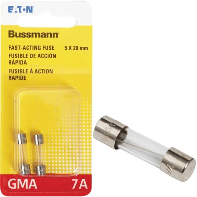 Bussmann 7A GMA Glass Tube Electronic Fuse (2-Pack)