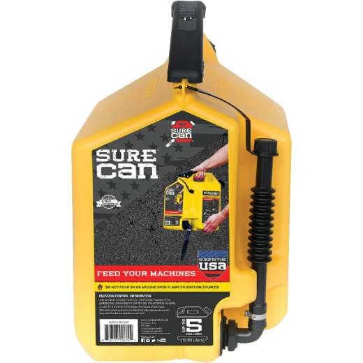SureCan 5 Gal. Plastic Diesel Fuel Can, Yellow