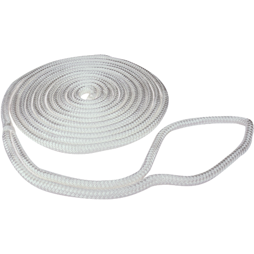 Seachoice 3/8 In. x 15 Ft. White Double Braid Nylon Dock Line
