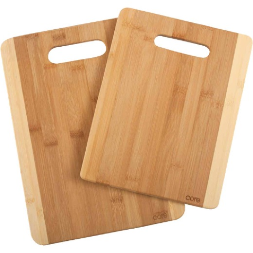 Core Daisy 2-Tone Natural Bamboo Cutting Board (2 Pack)