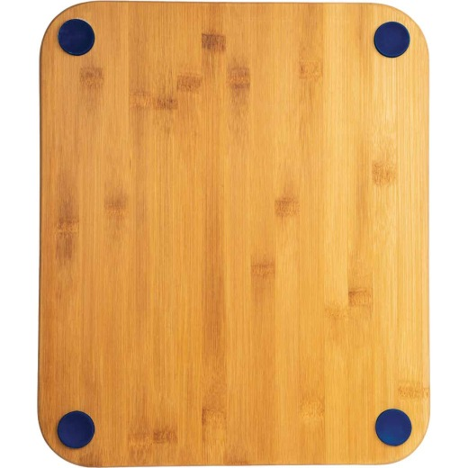 Core Bamboo 13.5 In. Square Natural Sapphire Foot Grip Cutting Board