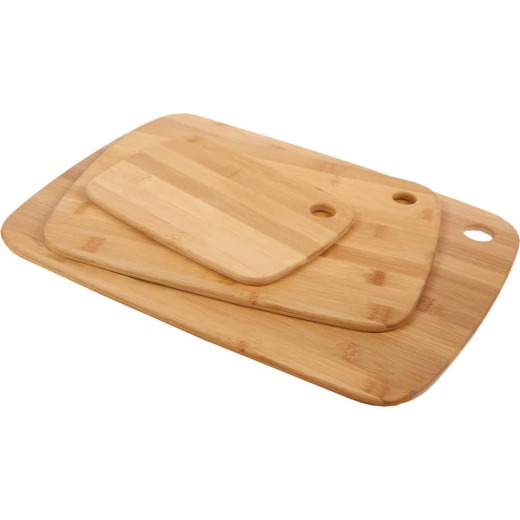 Core Bamboo Classic Small/Medium/Large Natural Cutting Board (3 Pack)