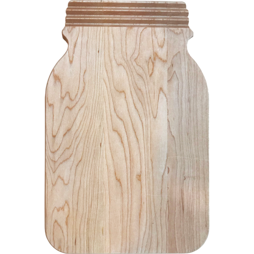 Snow River 8 In. x 12 In. Canning Jar Shape Cutting Board