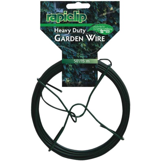 Rapiclip 50 Ft. Green Vinyl-Coated Heavy-Duty Garden Wire