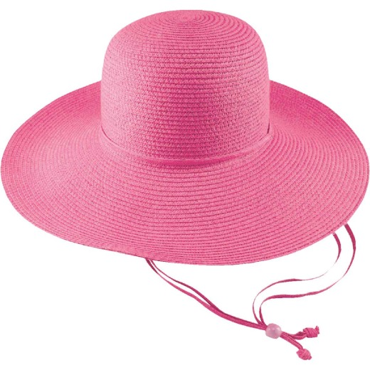 Midwest Quality Glove Women's Pink Straw Sun Hat