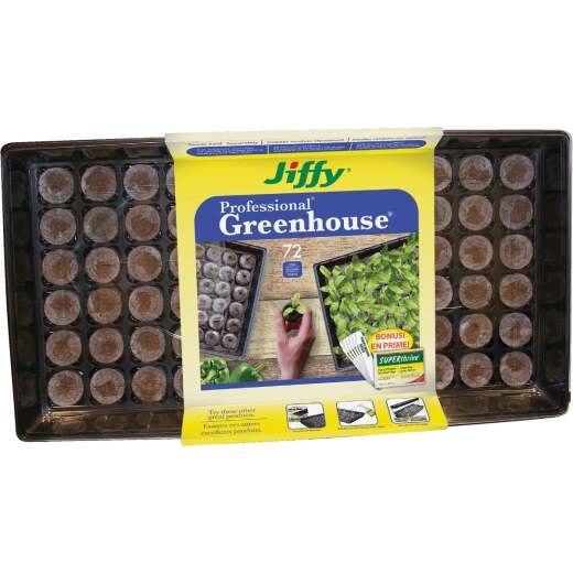 Jiffy Professional 72-Cell Greenhouse Seed Starter Kit with Superthrive