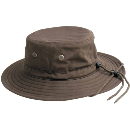 Sloggers Men's Dark Brown Cotton Bucket Hat