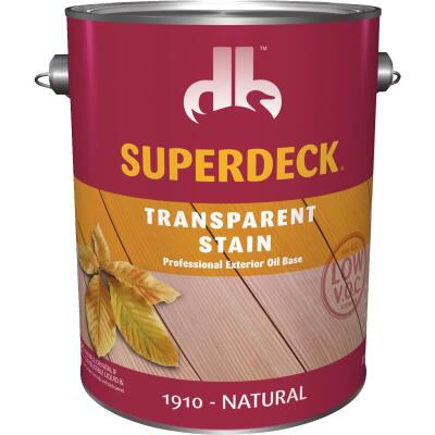 Duckback SUPERDECK VOC Transparent Exterior Stain, Natural, 1 Gal.