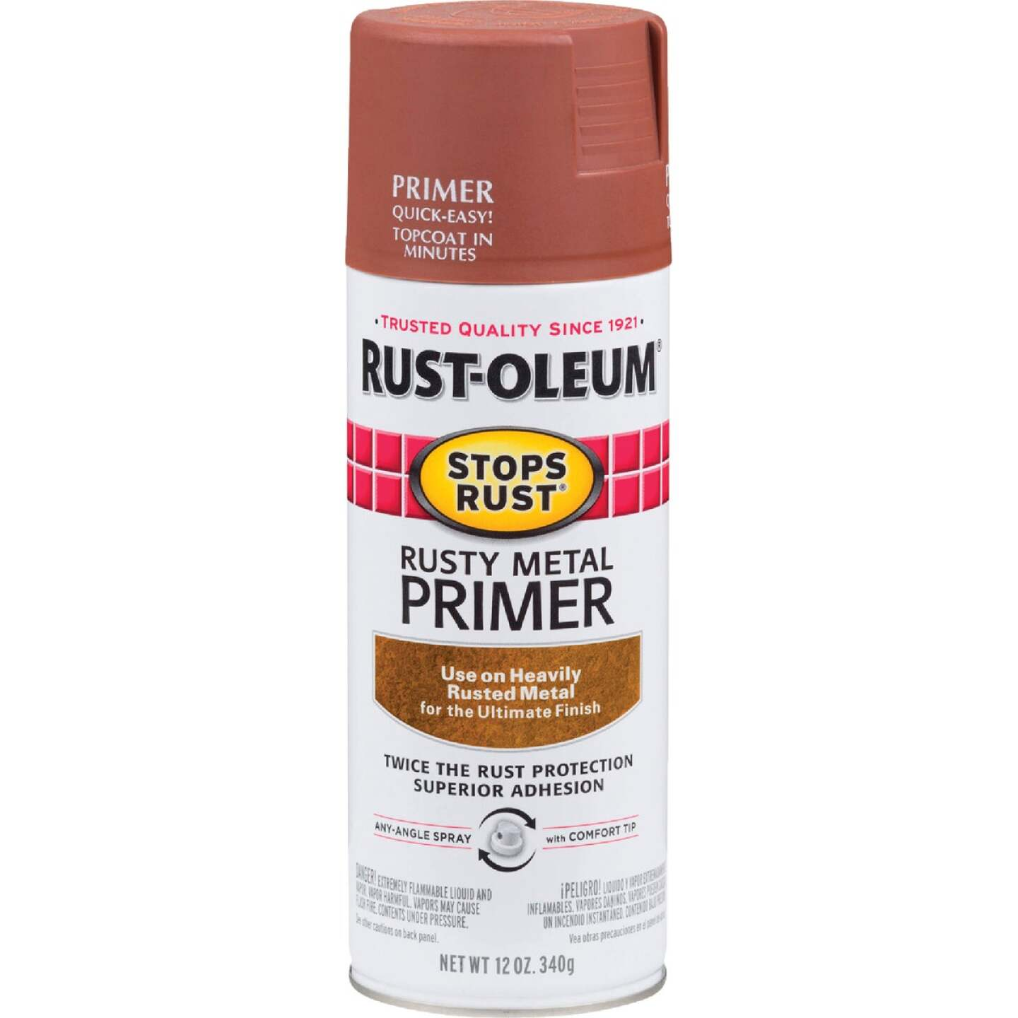 Rust-Oleum 12 Oz. Brown Rusty Metal Spray Primer Image 1