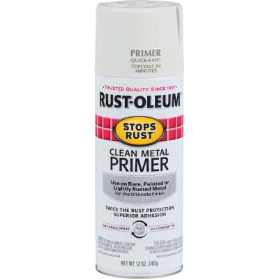 Rust-Oleum 12 Oz. White Clean Metal Spray Primer