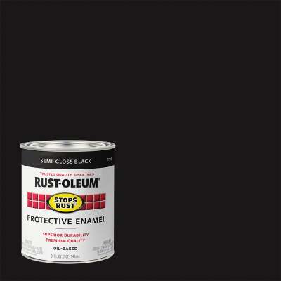 Rust-Oleum Stops Rust Oil Based Semi-Gloss Protective Rust Control Enamel, Black, 1 Qt.