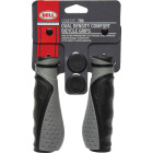 Bell Comfort-Grip Black & Gray Thermo Plastic Rubber Handlebar Grips Image 1