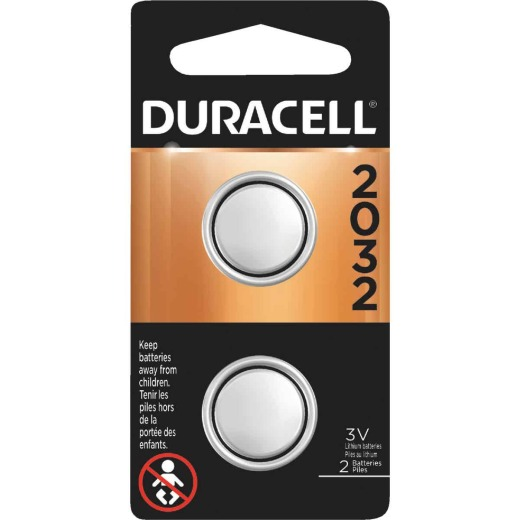 Duracell 2032 Lithium Coin Cell Battery (2-Pack)