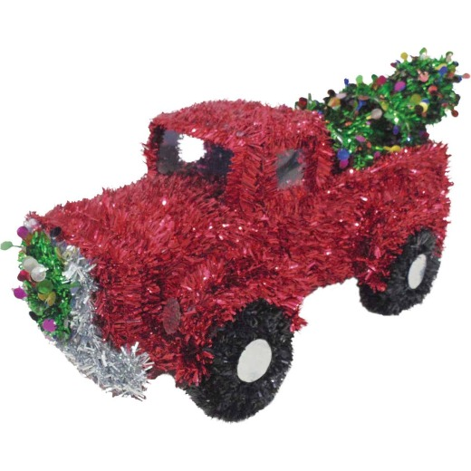 Youngcraft 13-1/2 In. Tinsel Truck Holiday Decoration